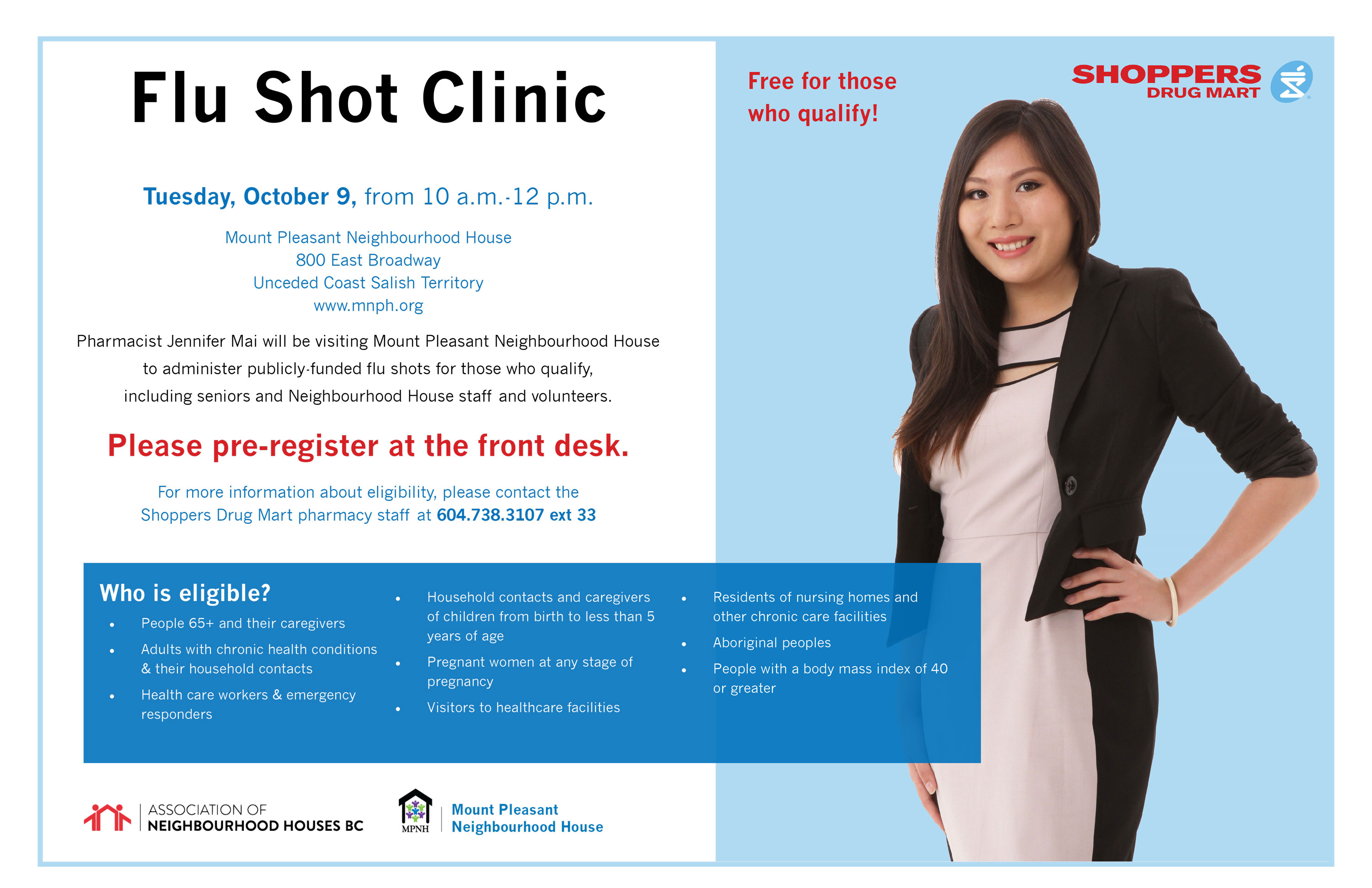 are flu shots free at shoppers drug mart
