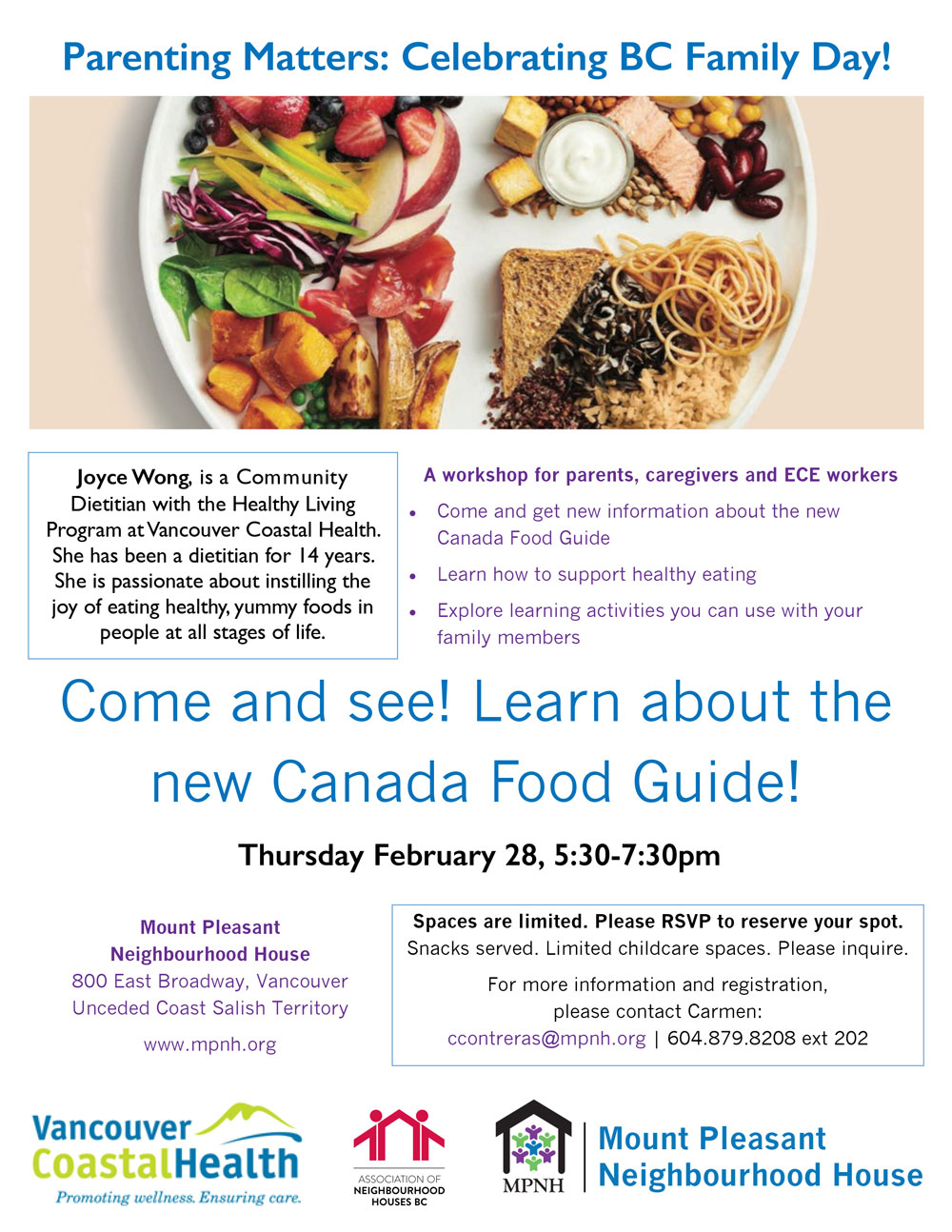 Parenting Matters: Canada's New Food Guide » Mount Pleasant