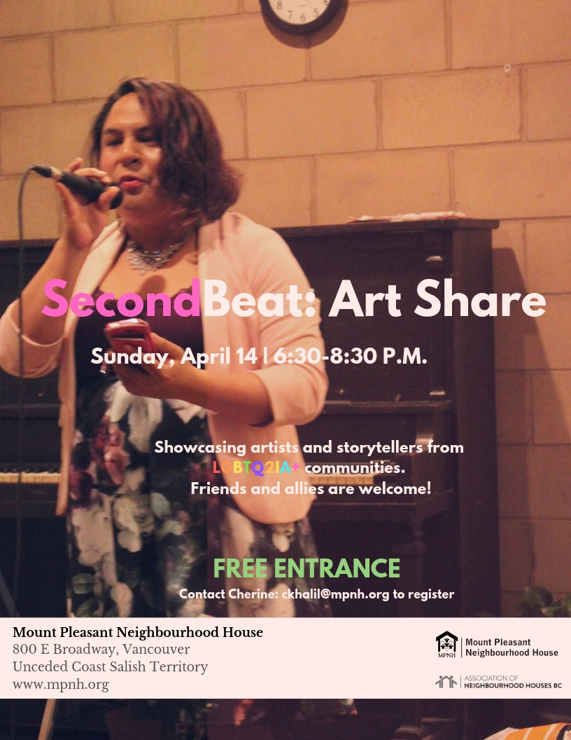 A poster featuring an image of a person holding a cell phone and singing into a microphone, in front of a piano.