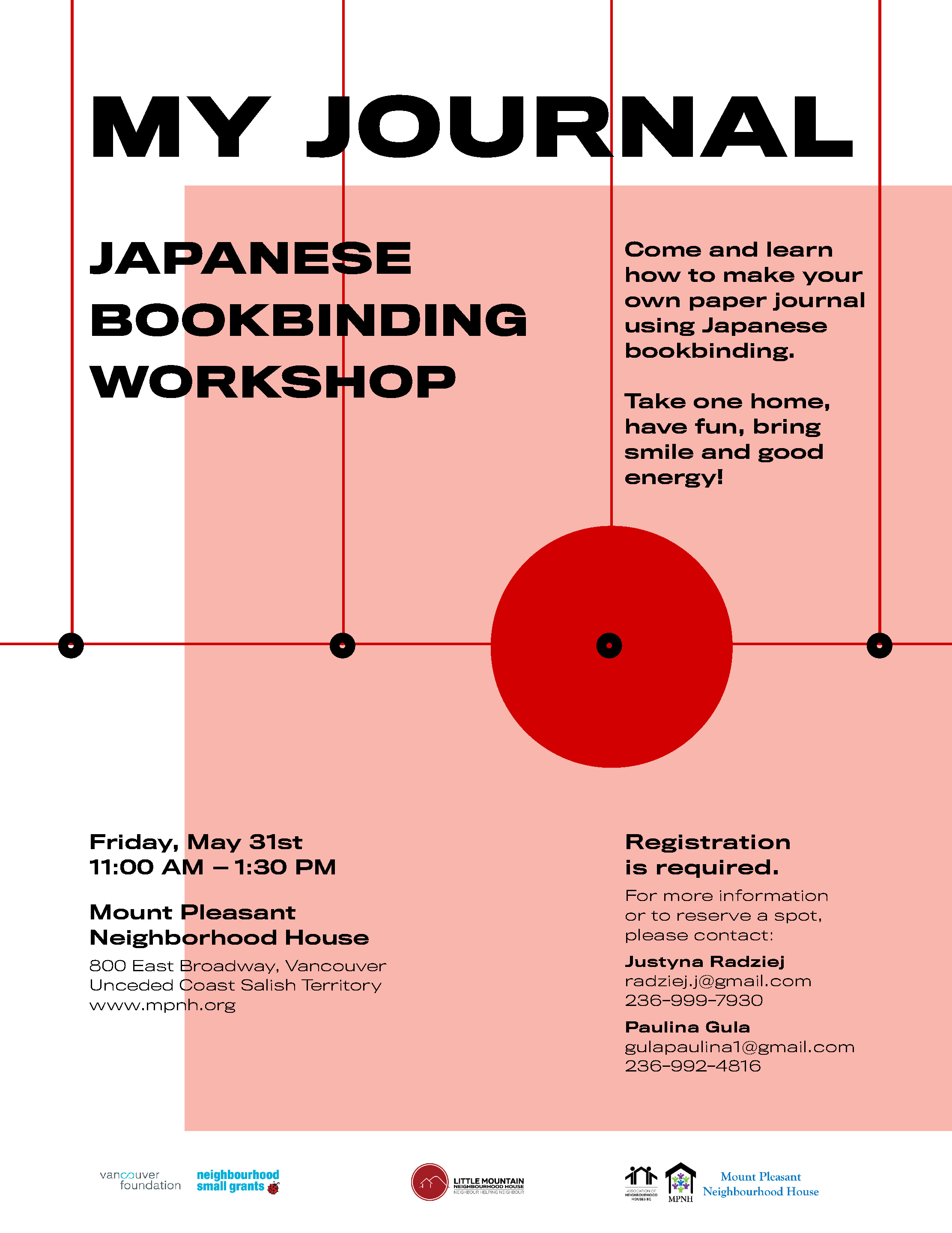 An image of the poster with event details, featuring a white background and a red circle, similar to the Japanese flag.