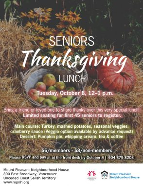 An image of the event poster, featuring a background photo of bales of hay, sunflowers, a basket of apples, and two gourds